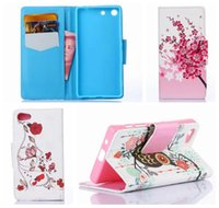 leather owl purse - Fashion Be Free Flower Butterfly Wallet Leather For SONY Xperia M5 Z5 Compact Mini PU Owl Eiffel Tower Stand Bowknot Pouches Purse Pouch