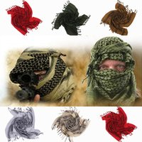 cotton square scarves - Arabic Windproof Thicken Square Scarf Women Men Cotton Shemagh Desert Tactical Hijabs Scarves Colors Choose ENN