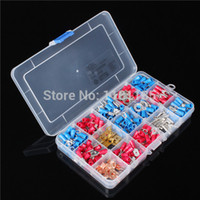 battery terminal set - 298Pcs Assorted Insulated Electrical Wire Terminals Connectors Crimp Set W Case
