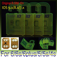 Wholesale Original RSIM rsim R sim thin card unlock card for iphone s plus s s IOS7 X ios9 X AT T T mobile Sprint WCDMA GSM CDMA