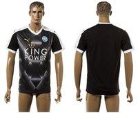 calidad tailandesa Tailandia 2015 2016 fútbol jersey barato 2016 camisetas de fútbol nuevo estilo Leicester City DRINKWATER TINTÓREO mahrez ULLOA Vardy negro