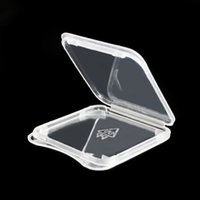 Wholesale 1000pcs High Quality SD Card SDHC SDXC Memory Card Protect Case Holder Plastic Box Jewel Cases