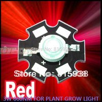aquarium power - Freeshipping Hot sale W Deep Red High Power NM Plant Grow LED Light for Cabinet Tank Aquarium with MM PCB