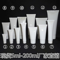 Wholesale white cosmetic cream tube plastic packaging container ml g to ml g Facial cleanser hand cream cleansing foam