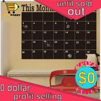Wholesale 43 CM PVC mouth planner Wall Stickers Removable Blackboard Chalks office sheet Decals yearhappy