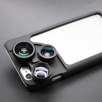 Cheap Fish Eye Wide-Angle Macro Extender lens Best 4 in 1lens for iPhone6plus 5.5