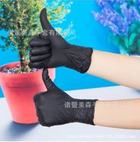 disposable gloves - Disposable nitrile butadiene rubber latex gloves black tattoo glove dyeing industrial gloves Y30218