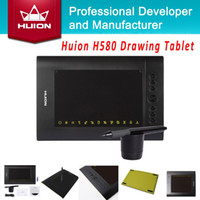 Wholesale Factory Price HUION H580 quot x quot Animation Graphic Drawing Tablets New Professional Signature Tablet Black With Digital Pen