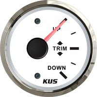 Wholesale 52mm white faceplate Trim gauge trim gauge wiring ohm stainless steel for the inboat yacht