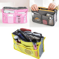 Nylon cosmetics - Lady s Cosmetic Storage Pouch Purse Travel cosmetic bag organizer handbag Colors H9469