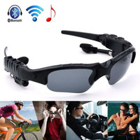 Wholesale Smart Wireless Bluetooth SunGlasses Google Glass Headset Headphones Handfree For IOS Anroid phones with retail package