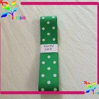 printed ribbon - 1 inch emerald color ribbon polyester ribbon Polka dots printed ribbon yards per Hot selling DIY ribbons