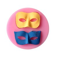 Wholesale New Arrival Halloween Party Masked Ball Fondant Mold D Silicone Chocolate Mould Cake Decor Cake Baking Tools FM202