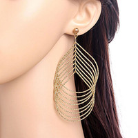 big hoop earrings - Hot Women Fashion Copper Gold Plated Multilayer Dangle Party Statement Big Earrings