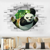 Wholesale Kung Fu Panda D stereo creative wall bedroom bedside living room sofa background wall stickers children room wall stickers