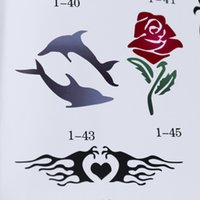 Wholesale OPHIR Patterns x Airbrush Stencils Body Paint Reusable Templates Sheets for Body Temporary Tattoo Stencils Sets _STE1