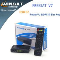 auto tv receiver - 20pcs Hot sale Freesat V7 hd Set Top box FTA DVB S2 Satellite receiver Support Youtube Youporn powervu auto decoder