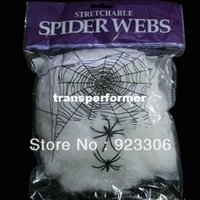 halloween decorations - Halloween Haunted House Prop Decoration Supplies A Large White Spider Web Prom Decorations M82