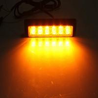 Envío libre ámbar de destello amonestador de destello de la luz del estroboscópico de la luz del estroboscópico de la barra de 10pcs 6 LED que envía libremente