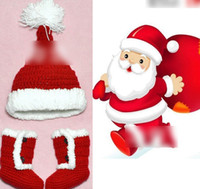 shoes hats caps - Christmas Hats and Shoes Santa Claus Hats and Shoes Baby Boys Hats Shoes Autumn Winter Cute Caps Shoes Kids Things L0583