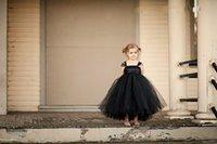 Cheap Cute Infant Ball Gowns Black Dress Little Girl's Toddler Glitz 2015 Cheap Baby Flower Girl Dresses Children Long Pageant Kids 2014 For Girls