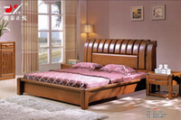 Wholesale 3 colors bed Oak Bedroom furniture bed factory price Oak bed