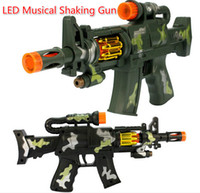 Wholesale Free EMS Camouflage cm LED Flash Glow Musical Shaking Gun Costume Dress Up Props Kids Toy Party Birthday Christmas Gift