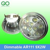 Wholesale LED Spotlight W Dimmable AR111 QR111 ES111 Spotlights x2W G53 GU10 V V V V V V V Equal W Halogen Spot Light