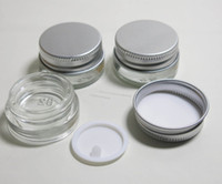 Wholesale FEDEX g high quality glass cream jar with aluminum lids cosmetic container cosmetic packaging glass jar