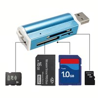 Wholesale Fashion SY All in USB Multi Memory Card Reader For Micro SD MMC SDHC TF M2 Memory Stick MS Duo RS MMC Retail Packag