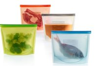 Wholesale Platinum Soft Silicone Fresh Bags Kitchen Organization Food Storage Liter Fresh Bag Colors Available