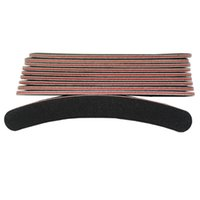 Wholesale 2015 New grit round double side black color curve nail file manicure tool SKU G0120