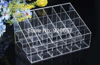 beauty display cases - Cosmetic Cases New Trapezoid Makeup Display Lipstick Stand Case beauty Cosmetic Organizer Holder