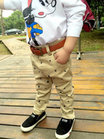 baby khaki pants - Boys Leisure Pants New Fashion Autumn Navy Style Achor Light Blue And Khaki Inwrought Baby Trousers Fit Age Children YY25