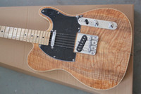 Wholesale belief14 new style telecaster guitar Ameican standard tele Brownish red electric guitar with Golden yellow Golden