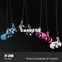 Wholesale High Quality Brand JY In Ear Bass Earphone Headset With Microphone Metal Headphone With Mic For iPhone Samsung all Phone