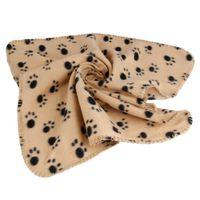 Wholesale Pet Blanket Mat Blanket Lovely Design Paw Print Soft Warm Fleece Dog Cat Mat Puppy Bed Sofa Cushion cm