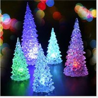 Wholesale Christmas Tree Ice Crystal Colorful Changing LED Desk Decor Table Lamp Light Decoration Kids Gift with Retail Box