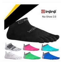 Wholesale Injinji men socks quick drying breathable outdoor finger socks coolmax five finger toe socks no show socks colors