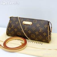 Wholesale N55213 BROWN WOMENS EVA CLUTCH BAG HANDBAGS