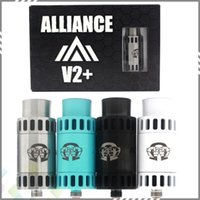 alliance metal - Alliance V2 RDA Vaporizer Atomizer Clone Rebuidable Dripping Atomizer Adjustable Airflow Square Insulator fit E Cigarette Mod DHL Free