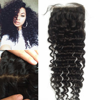 beyonce deep wave hair - 8A Best human hair soft Virgin Indian hair silk based closure deep curly beyonce curl top frontal piece