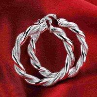 barrettes for boys - Summer Style Imitation Sterling Silver Hoop Earrings For Women Men Newest Earrings Bijoux Boys Girls Bohemian Jewellery