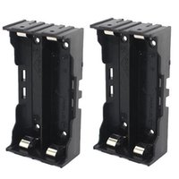 Wholesale 2 x V Batteries Pin Battery Holder Case parallel connection battery holder for battery packs black color