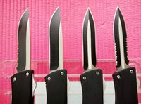 aluminum options - 4 Options Combat Troodon A16 Knife quot Black Single Double fine edge Serrated camping Utility outdoor gear action knife Xmas gift L