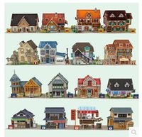 Others architectural styles - D puzzle paper children s educational toys hand assembled DIY world style architectural model