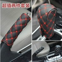 Wholesale Automobile brake gear set two piece sleeve black black and white wine accessories gloves brake set