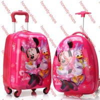 Wholesale Hot Sale Authentic Cute Cartoon Travel Bags inch Wheels Children Pull Rod Box Board Kids Luggage Suitcase