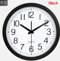 Wholesale M24 quot quartz sweep movement living mute wall clock fashion design brief living room wall clock