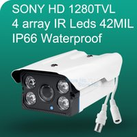 "Cheap 2015 NEW 1 3"" SONY CCD HD 1280TVL Waterproof Outdoor security camera 4 Pcs array led IR Night vision 50 meter CCTV Camera"